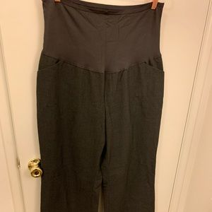 Gap maternity trousers in grey plaid size 16R